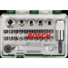 Bosch Screwdriver Bit And Ratchet Set 27 Piece