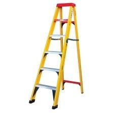 SA Ladder Semi Fiber Glass 6 Step Ladder 1.8m