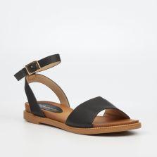 Butterfly Feet Ladies Ellie1_Black Flat Sandal