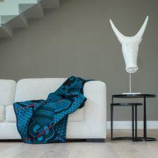 Aranda Kharetsa Blanket 155 x 165 Aloe Peacock
