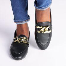 Madison Big Chain Loafer Black