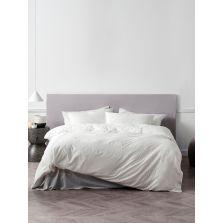 Mayfair Pintuck 180TC Duvet Cover Set White