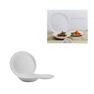 Consol 12 Piece Opal Glass Dinner Set