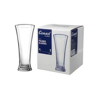 Consol Berlin Pilsner Glass Set of 4