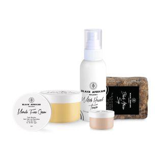 Black African Organics African Black Soap Renewal Face Kit
